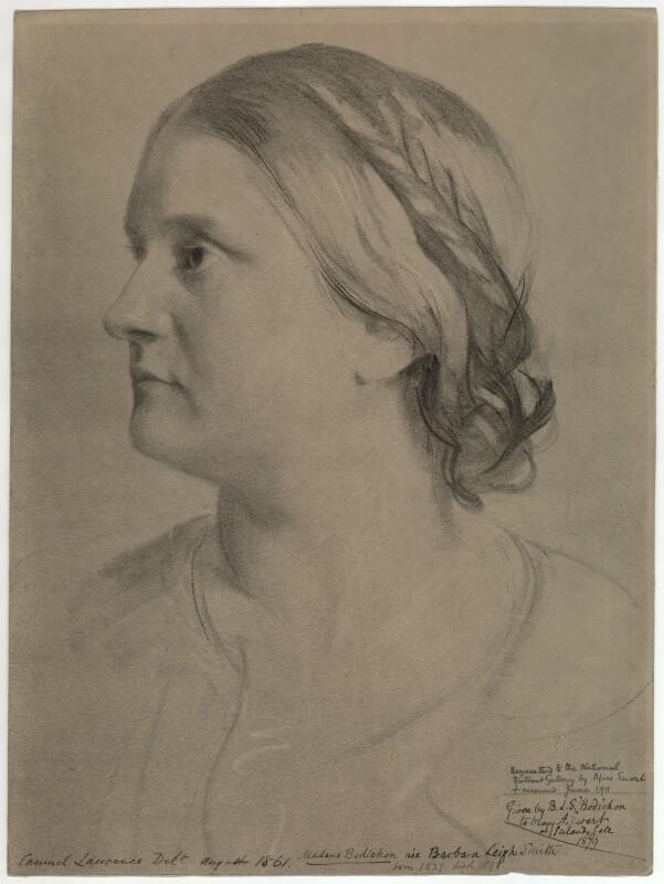 Sketch of Barbara Leigh Smith Bodichon