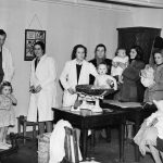 Black and white photo of Becontree Avenue Infant Welfare Clinic (c. 1947)