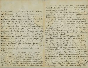 Scanned image of letters from Helen Taylor to Barbara Bodichon