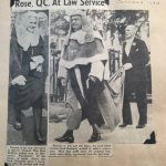 Clipping of Rose Heilbron Law Service October 1953