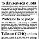 Black and white photo of news-clipping of Baroness Hale's appointment to the High Court