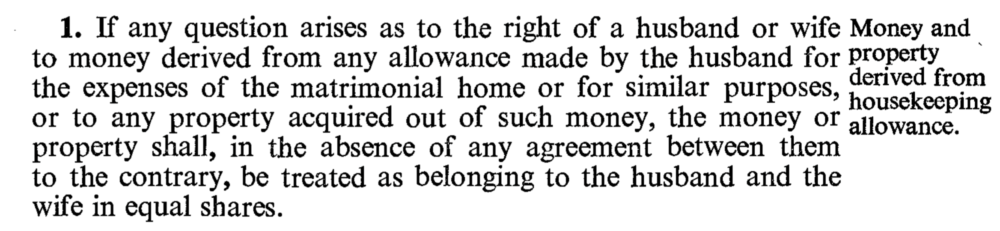 Image of section 1 of the Married Women's Property Act 1964