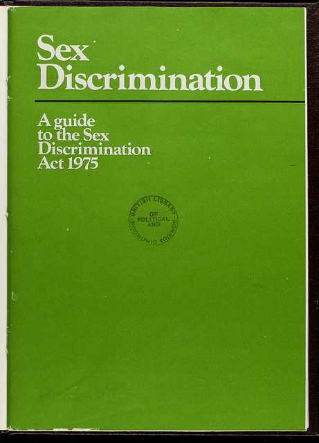 Scan of a green guide on the Sex Discrimination Act 1975