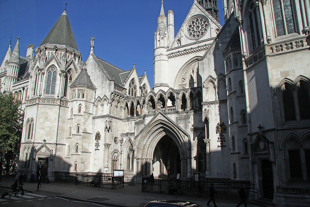 Colour photo of the Royal Courts of Justice