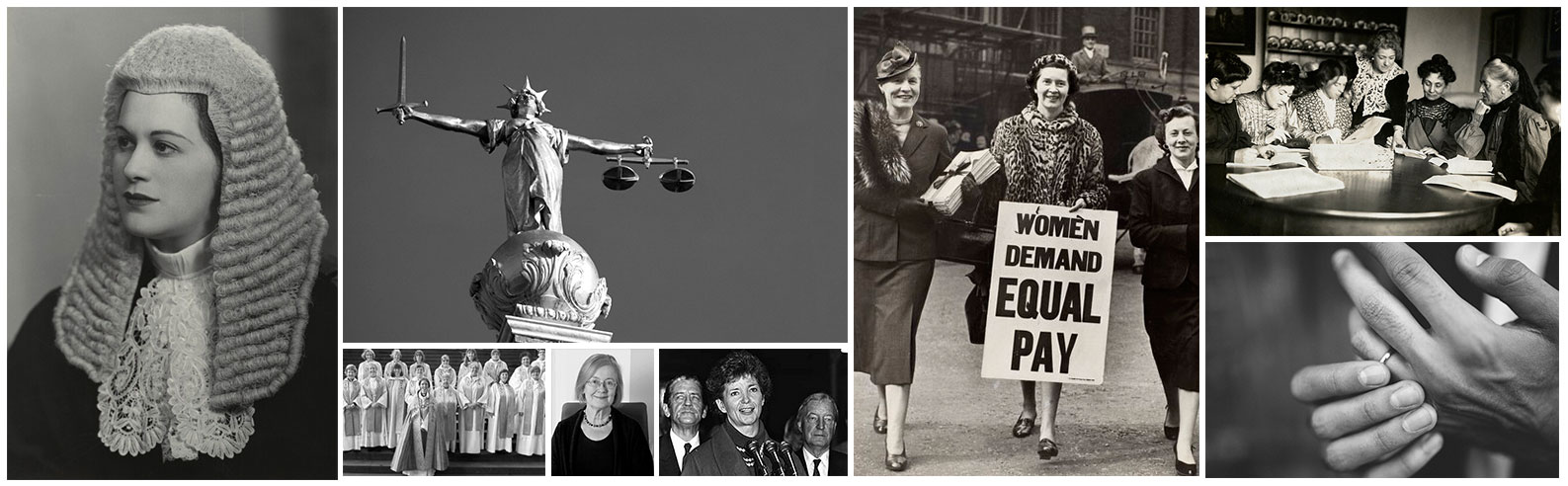A selection of images from the women's legal landmarks
